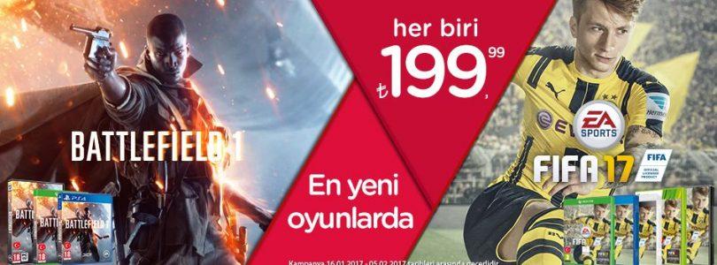FIFA 17 ve Battlefield 1'de Sömestr Kampanyası Başladı