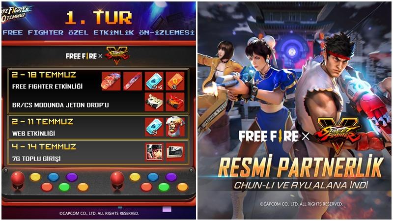 Free Fire Street Fighter V