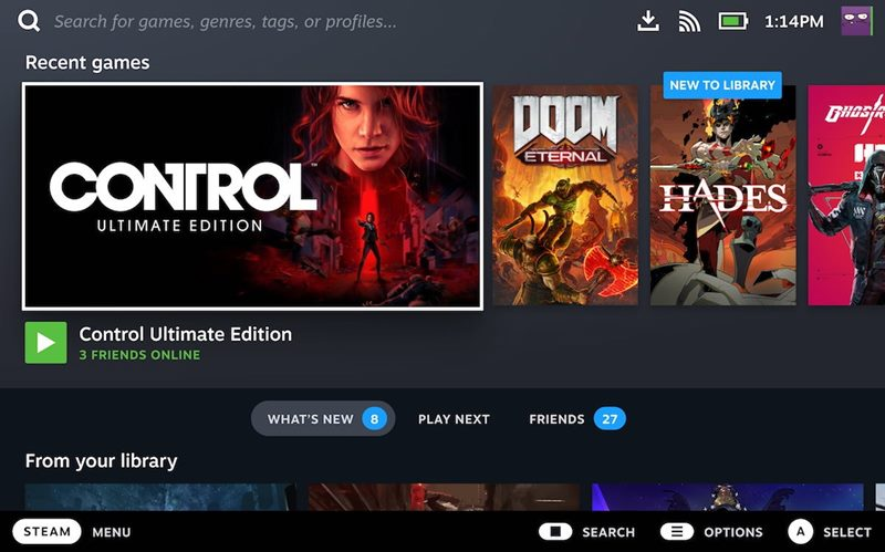 Steam Deck tasinabilir oyun konsolu