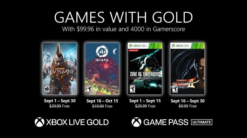 Xbox Live Gold Eylül 2021