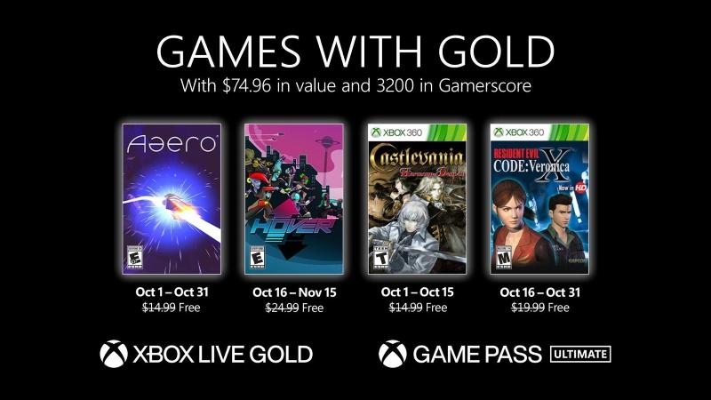 Xbox Live Gold Ekim 2021