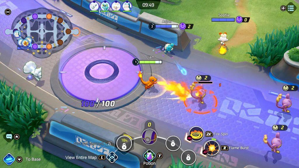 Pokemon Unite Gameplay