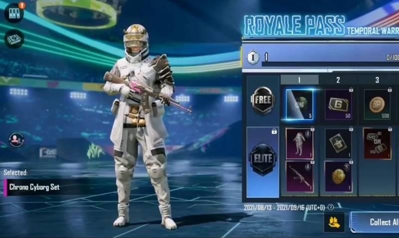 Chrono Cyborg Outfit PUBG Mobile C1S2 M4