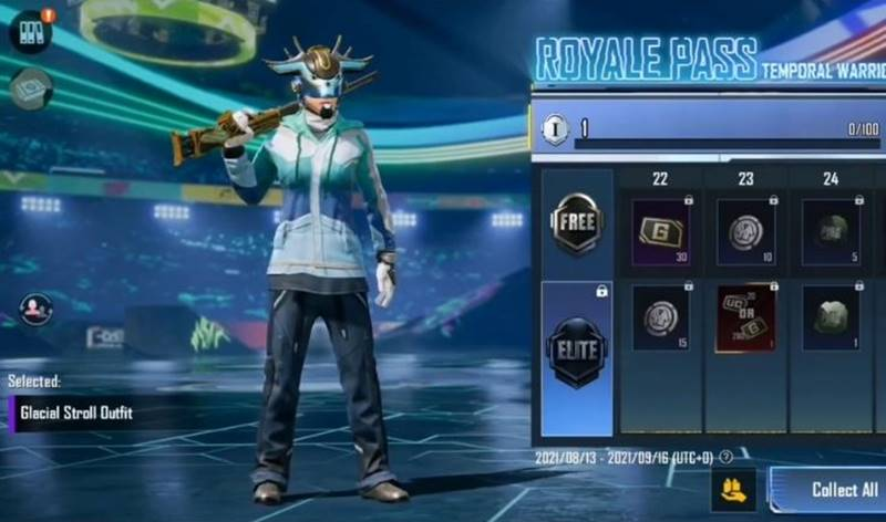 Glacial Stroll Outfit (Ücretsiz RP Ödülü) PUBG Mobile sezon 23