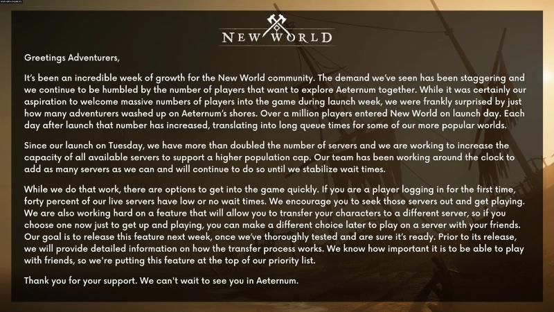 New World Sunucu Değiştirme